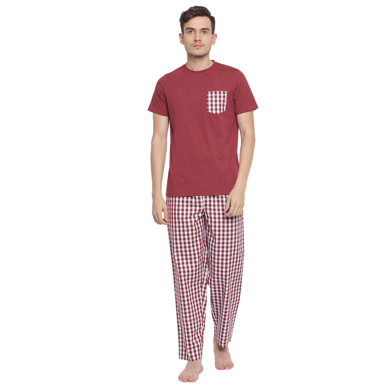 La Intimo   Play It Cool Checks Pyjama TShirt Set
