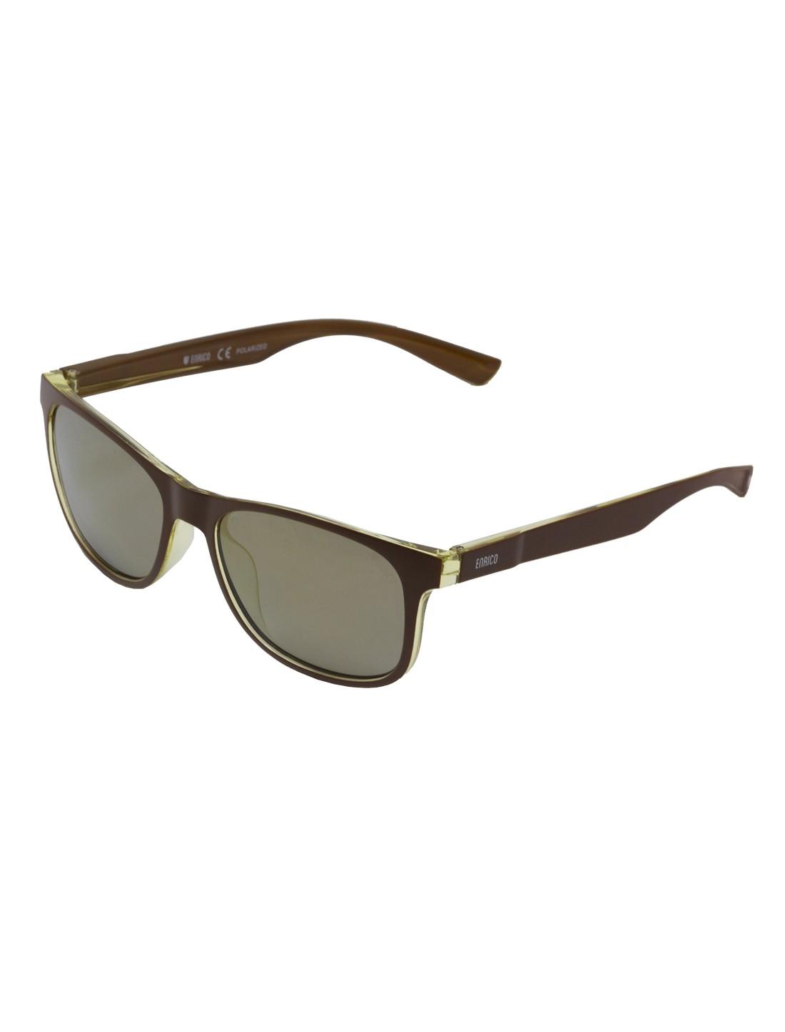 ENRICO | ENRICO Dusk UV Protected & Polarized Wayfarer Sunglasses for Men ( Lens - Grey | Frame - Brown)