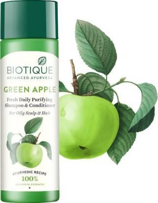 Biotique Advanced Ayurveda | BIOTIQUE Bio Green Apple Shampoo and Conditioner - (190 ml*2)