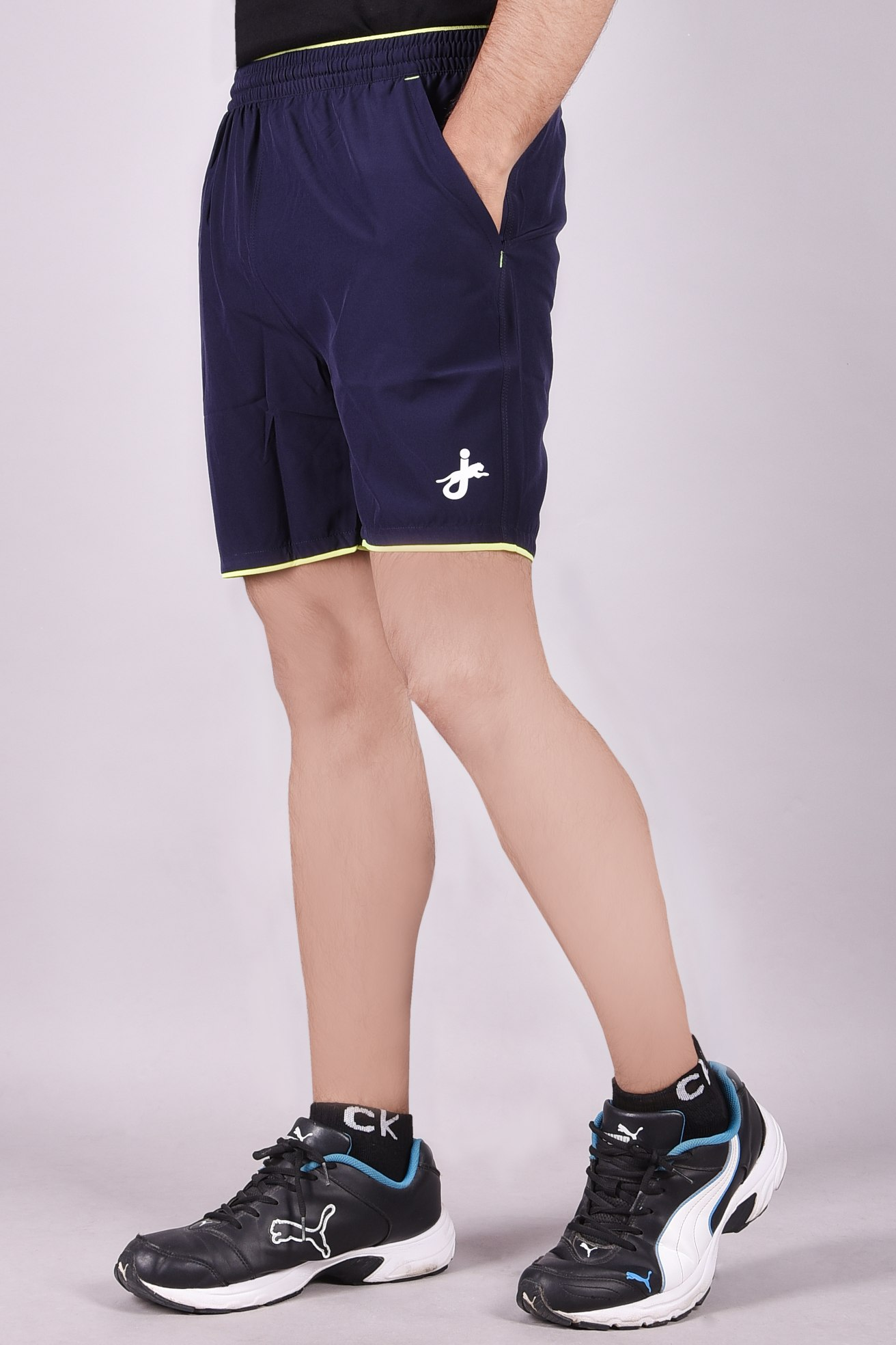 JAGURO   Polyester Stylish Men's Blue Shorts.
