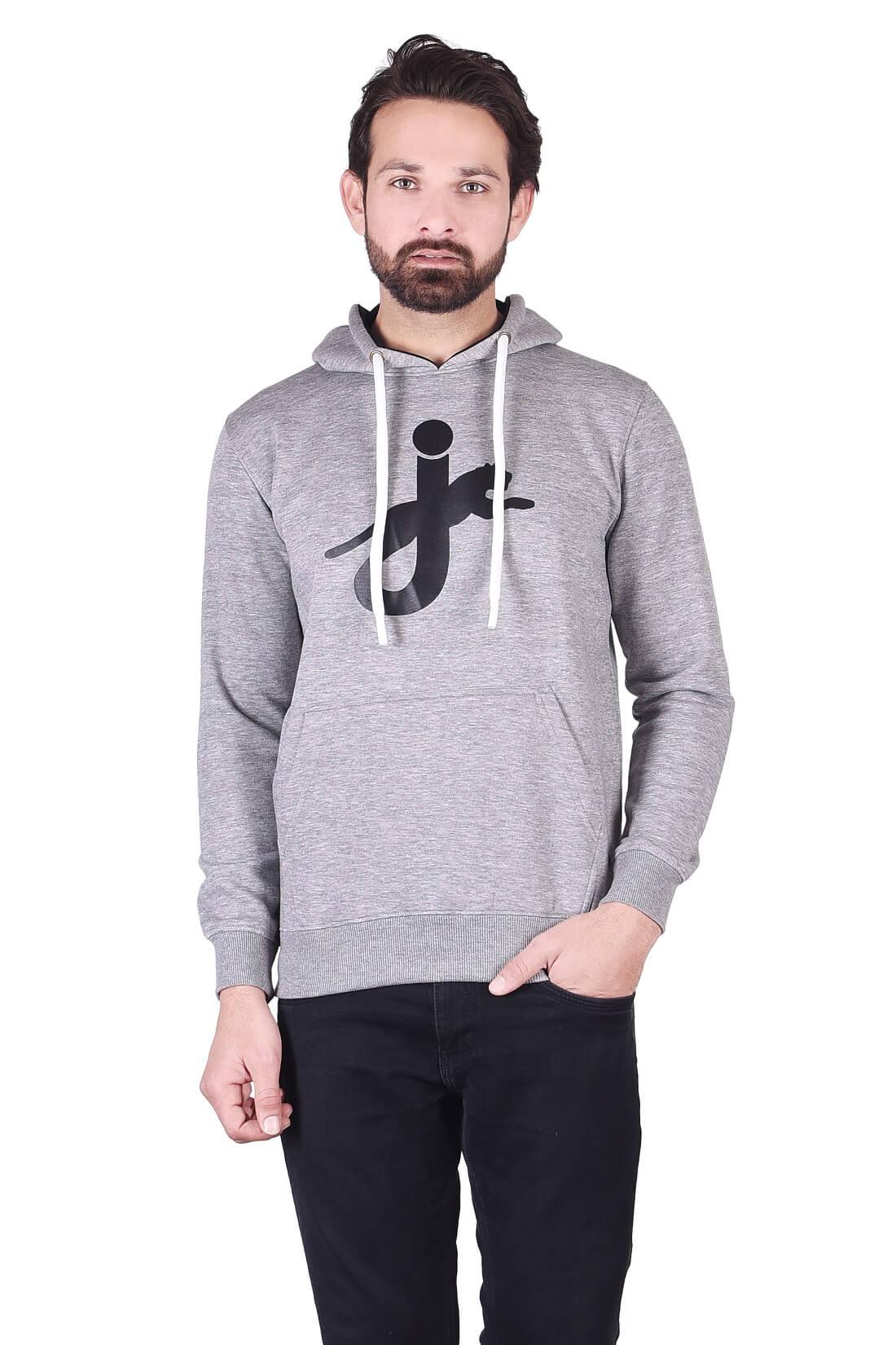 JAGURO | JAGURO men's solid winter hoodie .