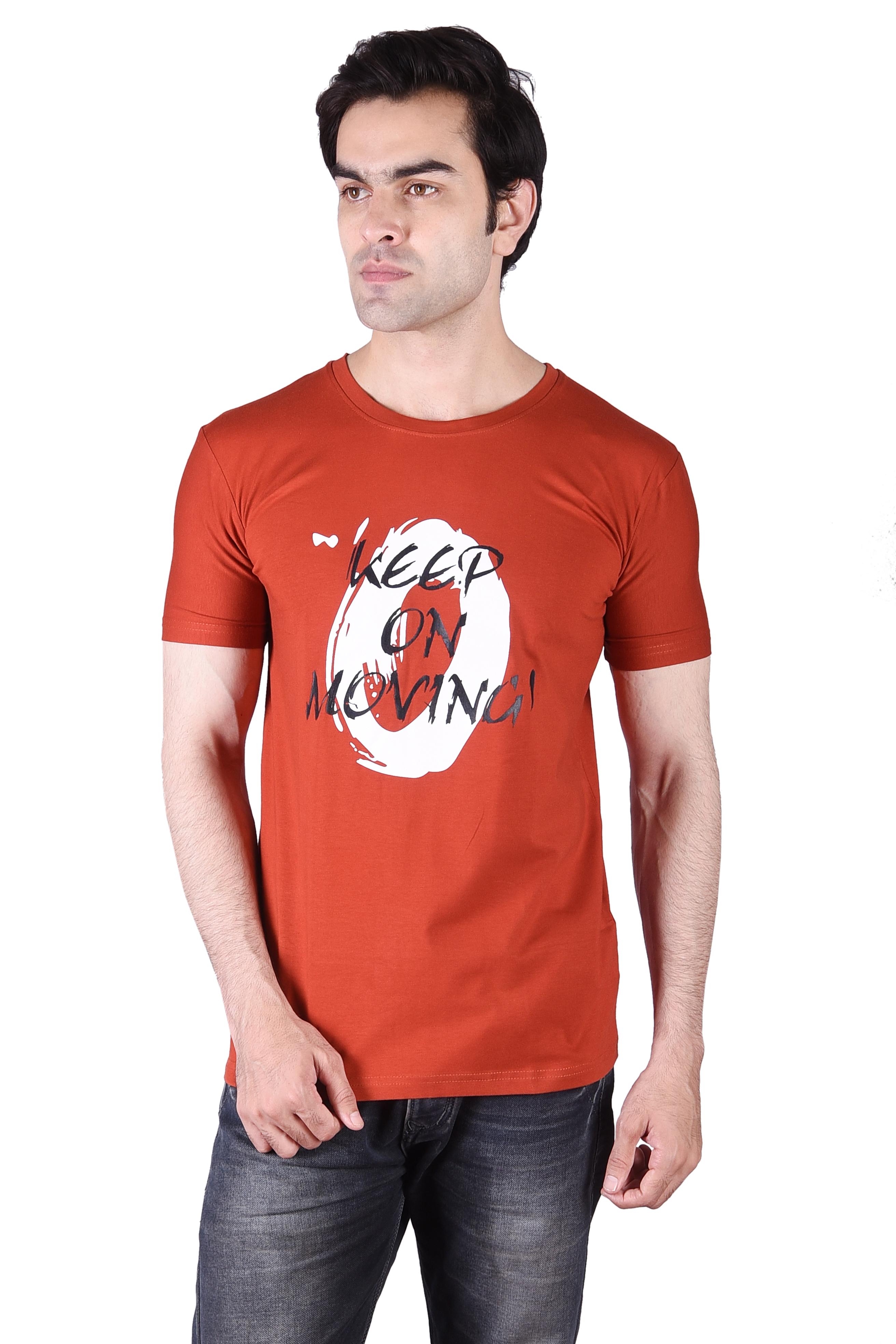 JAGURO   JAGURO Men's Printed T-Shirt.