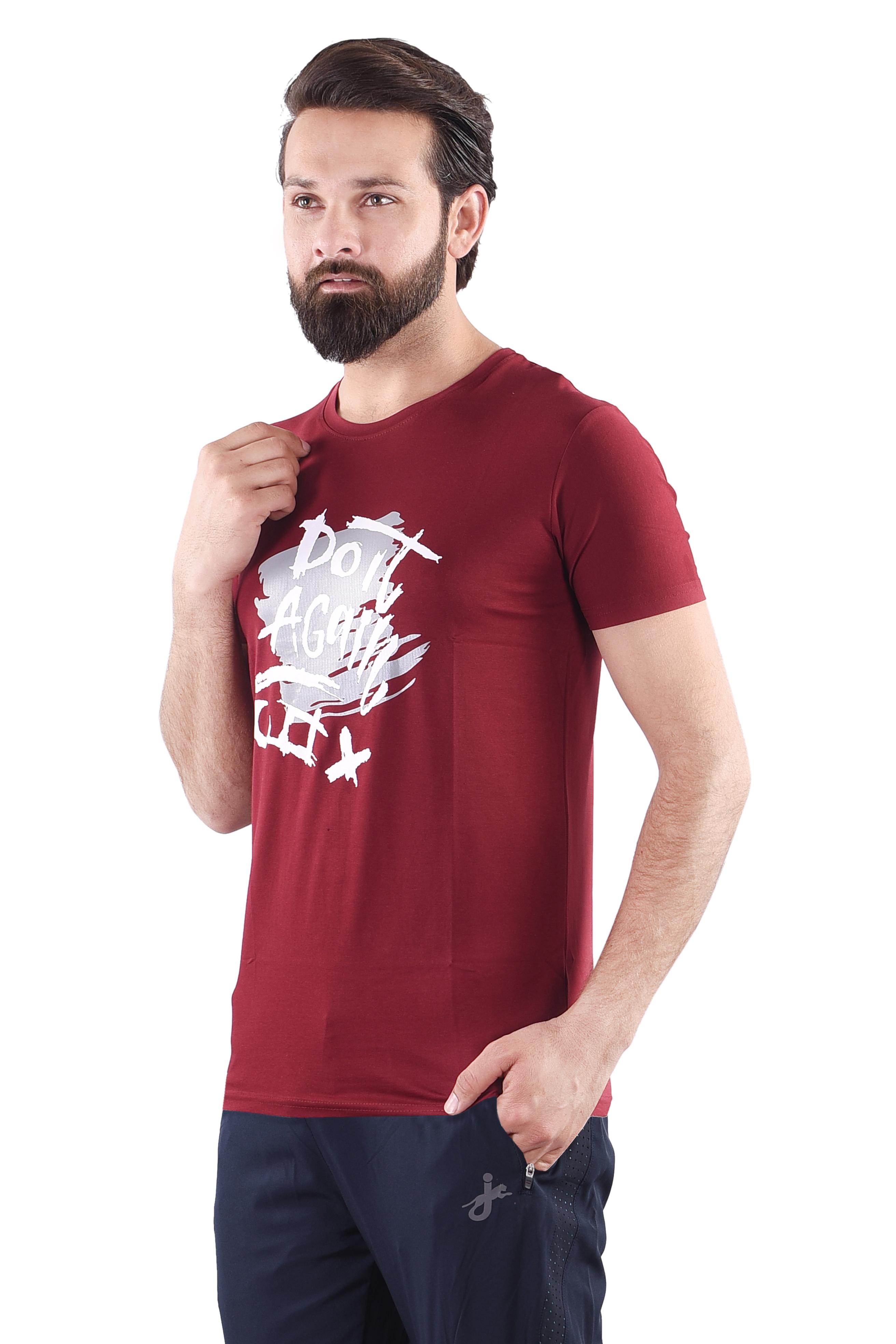 JAGURO | JAGURO  Men's Cotton Printed Round Neck Half T-Shirt