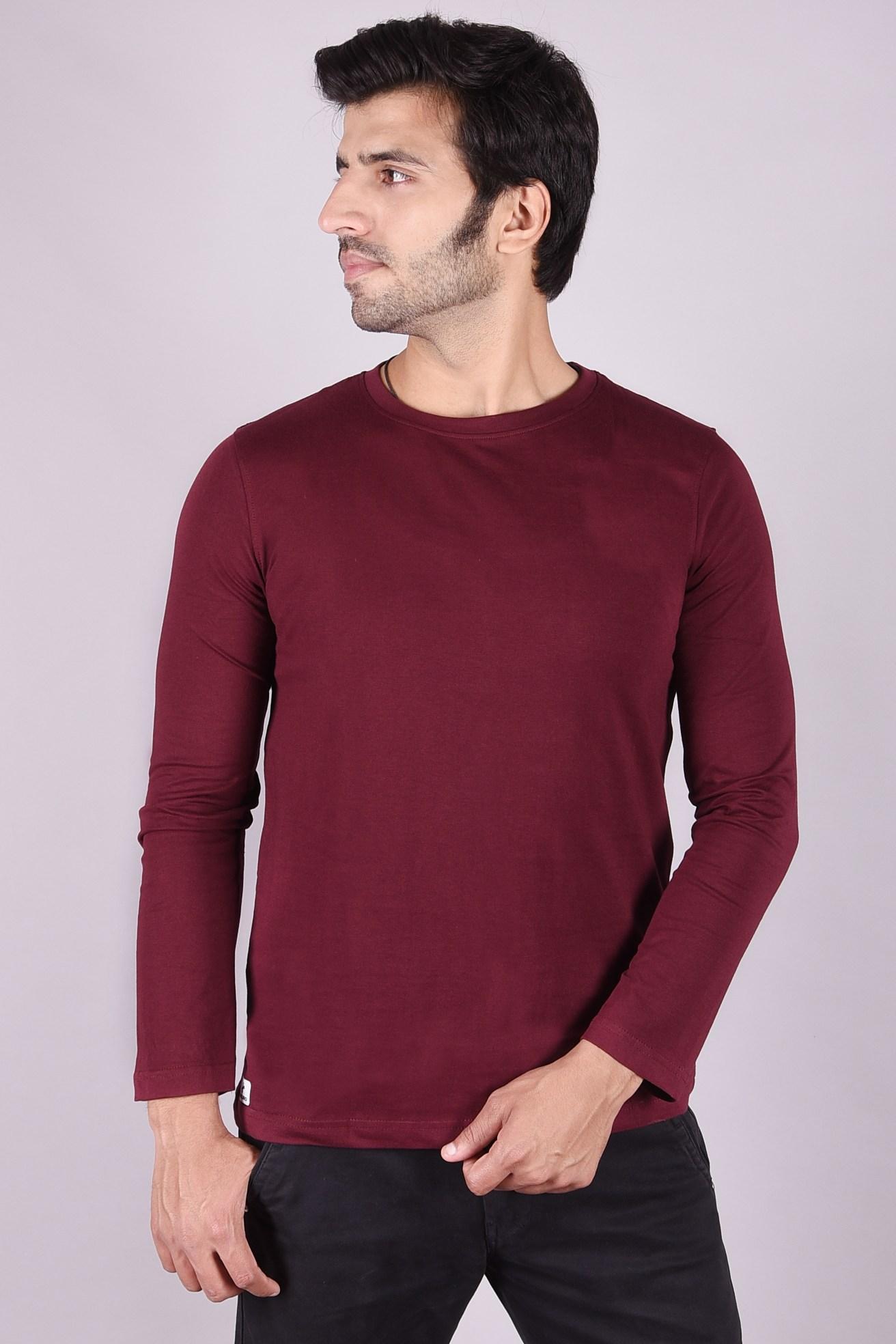 JAGURO | Stylish full Sleeves cotton T-shirt.