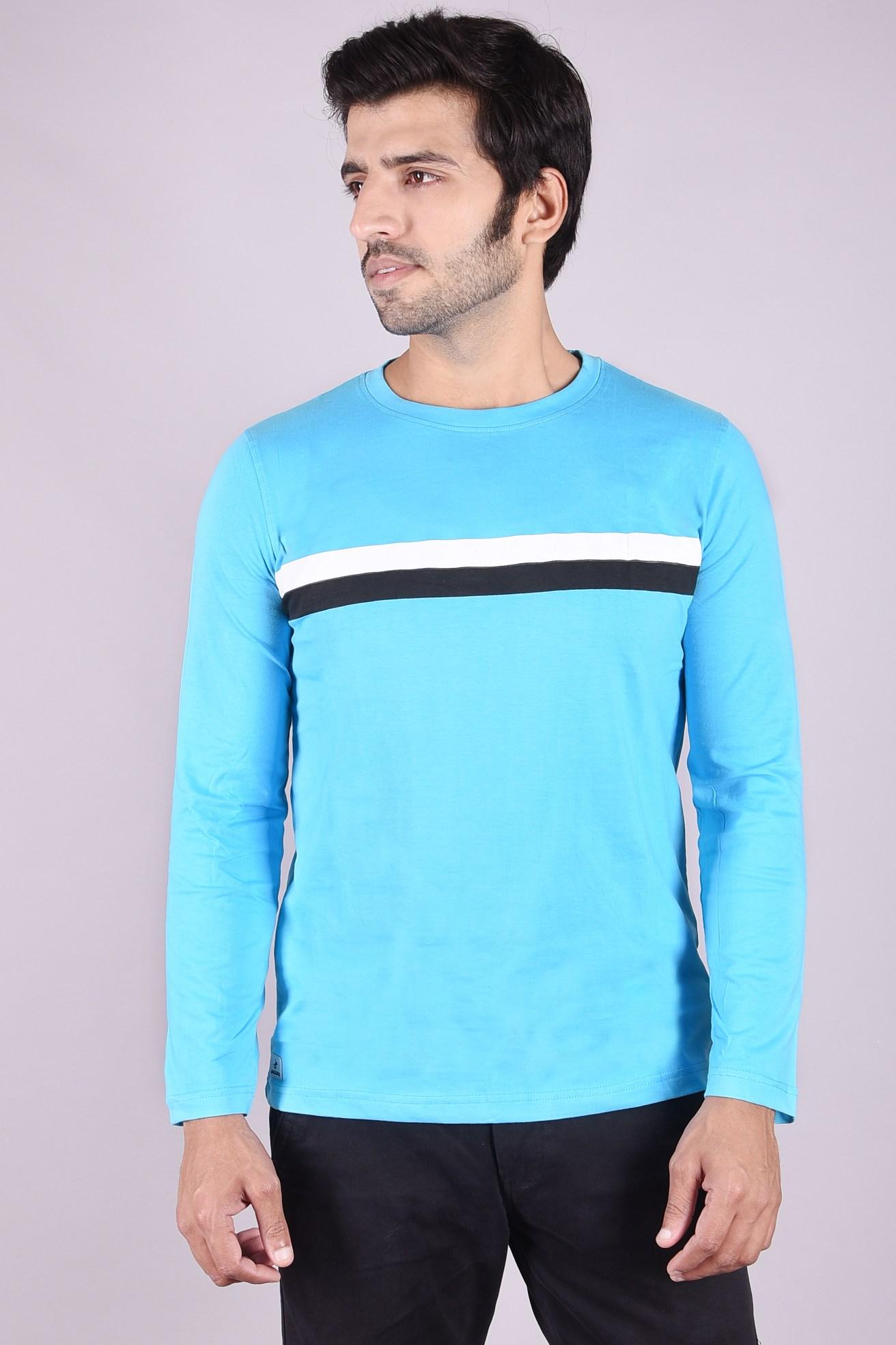 JAGURO   Stylish full Sleeves cotton Printed T-shirt.