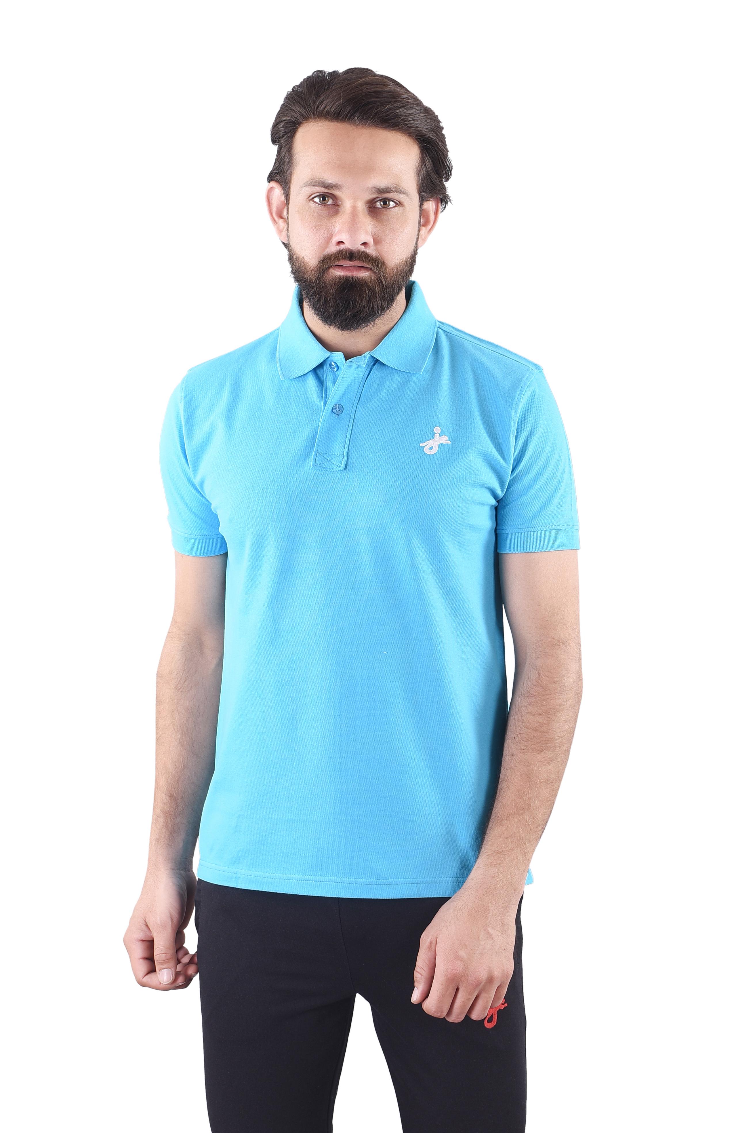 JAGURO   JAGURO  Men's Cotton Solid Polo Collar  T-Shirt.