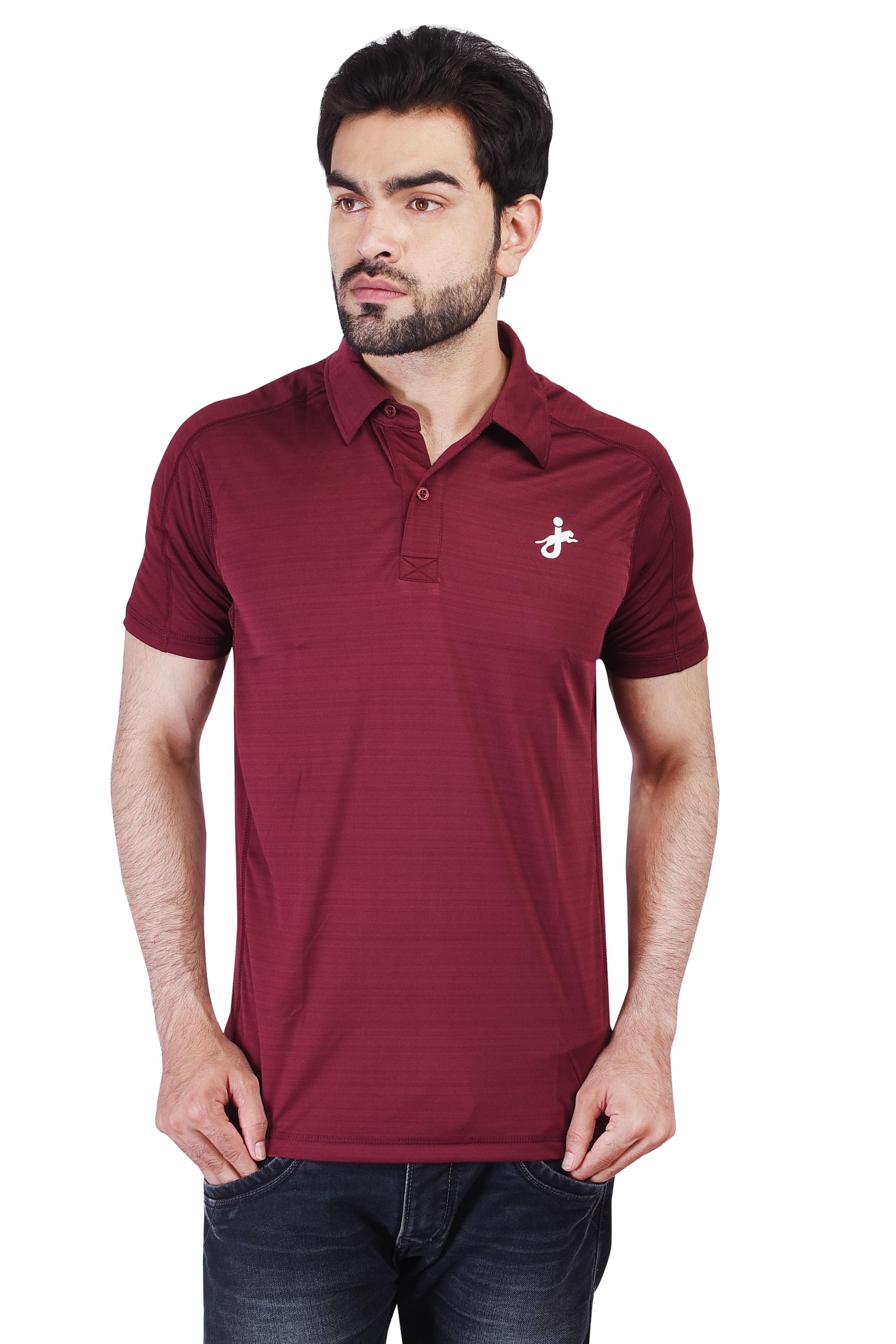 JAGURO   JAGURO Men Casaul Polyester Collar Neck T_Shirt