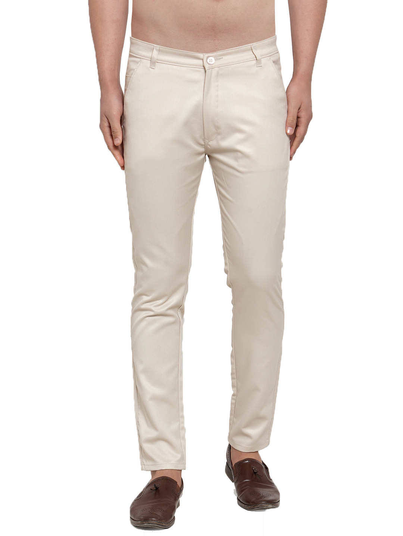 Jainish | Jainish® Men's Solid Casual Trousers