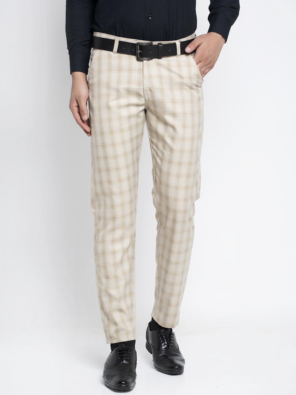 Jainish   Jainish® Men's Checked Formal Trousers
