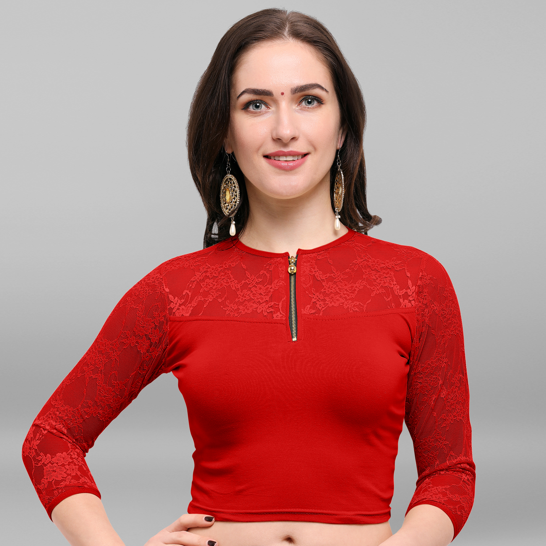 Janasya | Janasya Women's Cotton Lycra Stitch Blouse