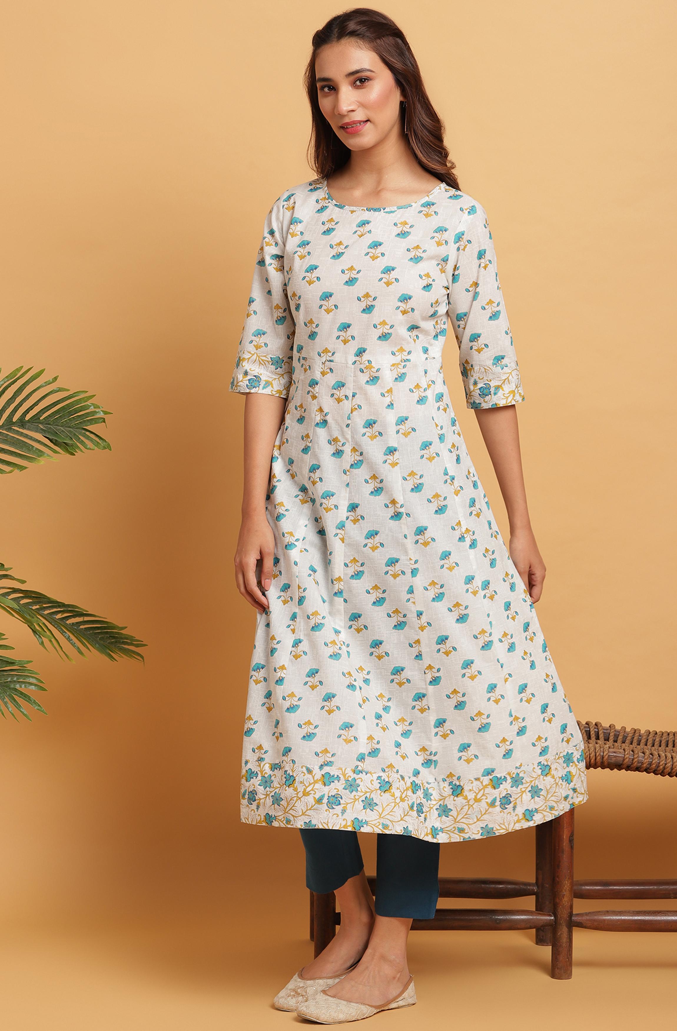 Janasya | Janasya Women's Off White Cotton Kurta