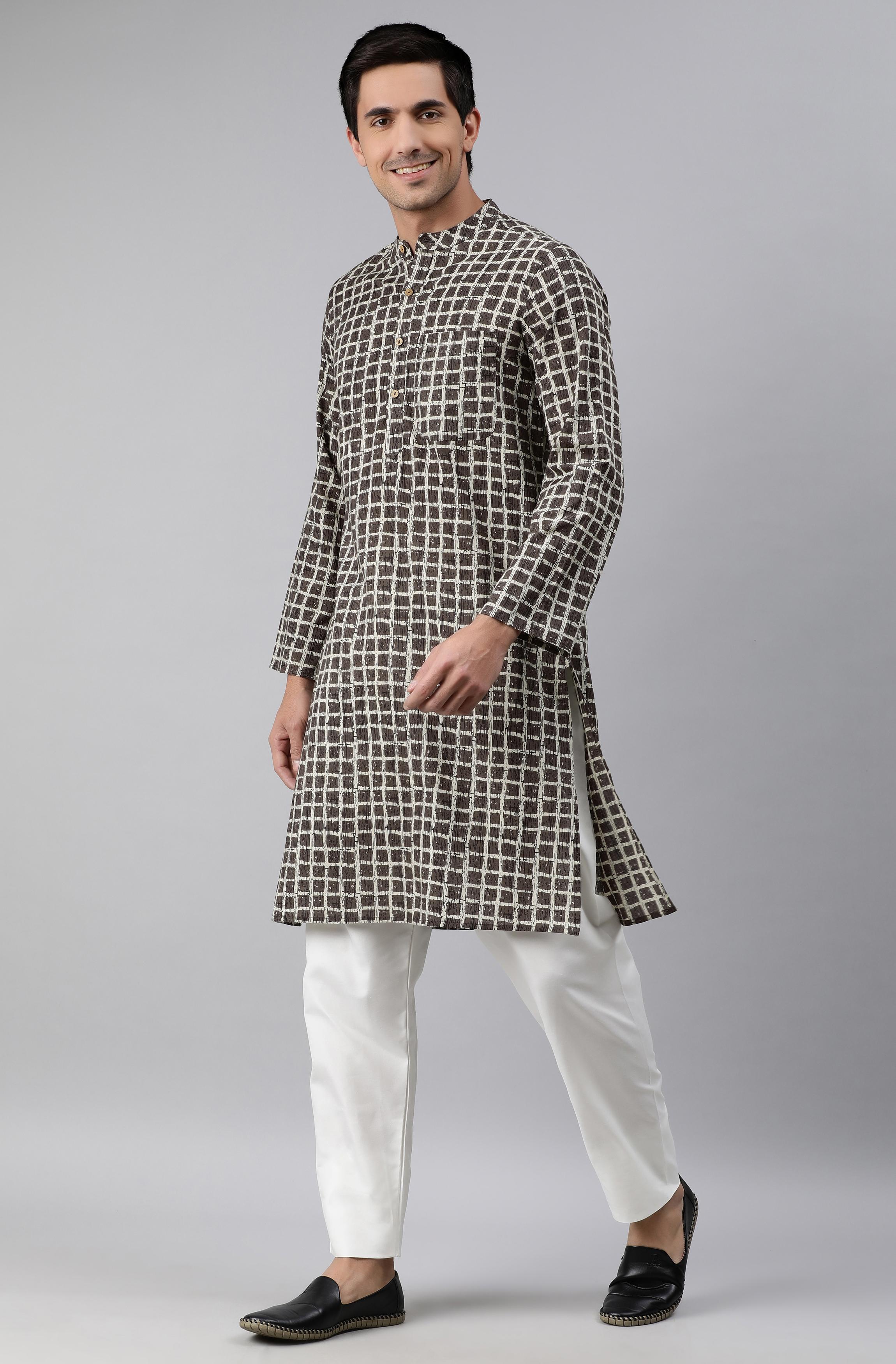 Janasya | Janasya Men's Olive Cotton Kurta