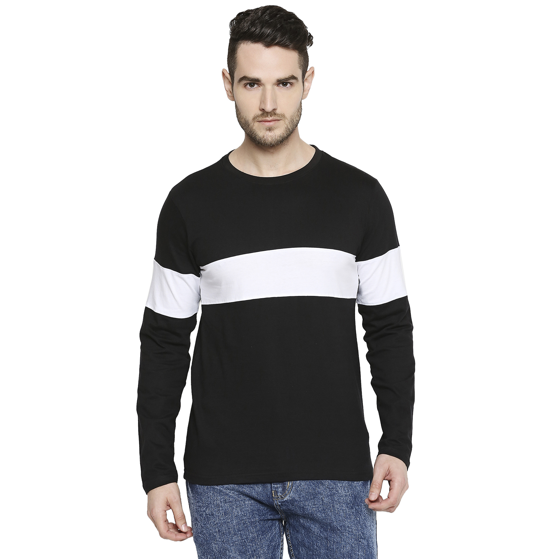 Jhankhi   Jhankhi Men Cotton Black and White T Shirt