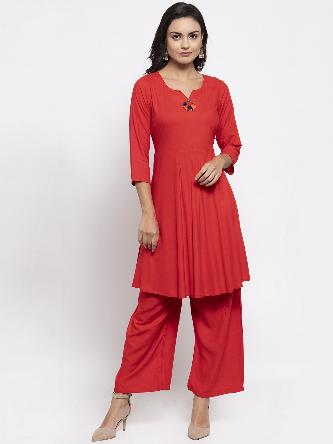 Jompers   Jompers® Red Kurta With Palazzo