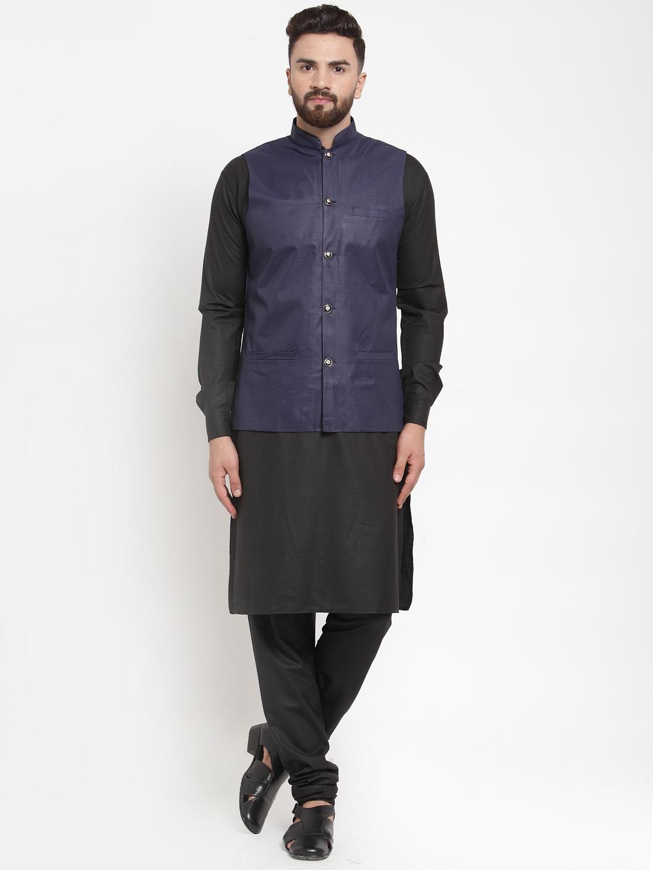 Jompers   Jompers® Men's Solid Kurta Pajama with Solid Waistcoat