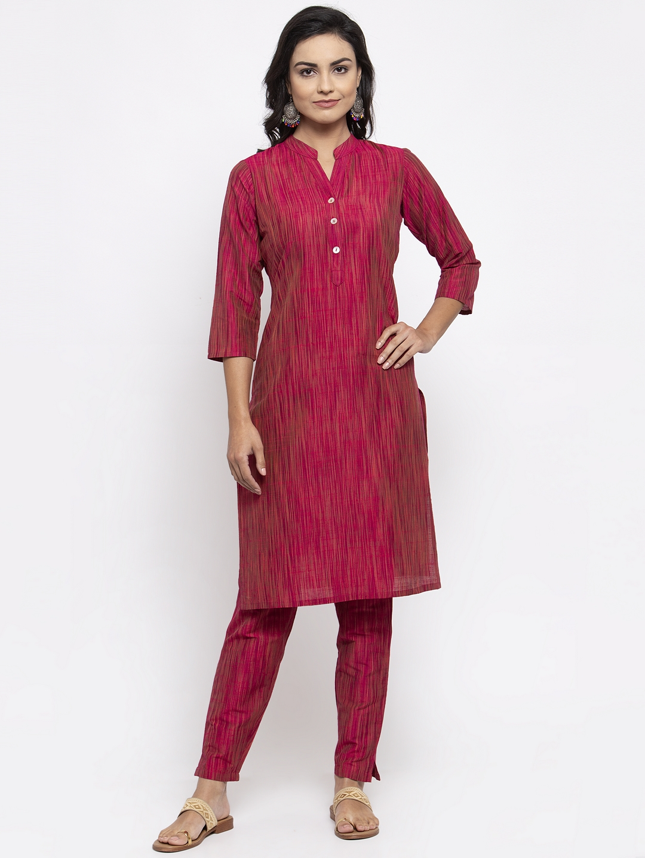 Jompers | Jompers® Women Pink Kurta with Pants