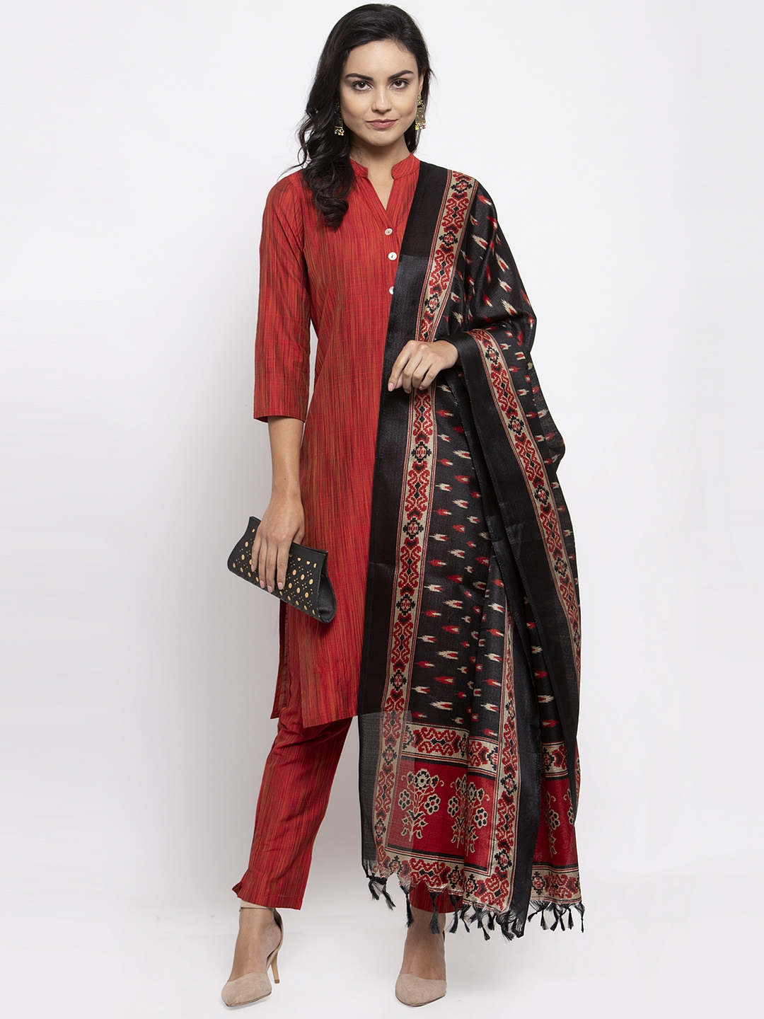Jompers | Jompers® Women Yellow Kurta with Pants and Printed Dupatta