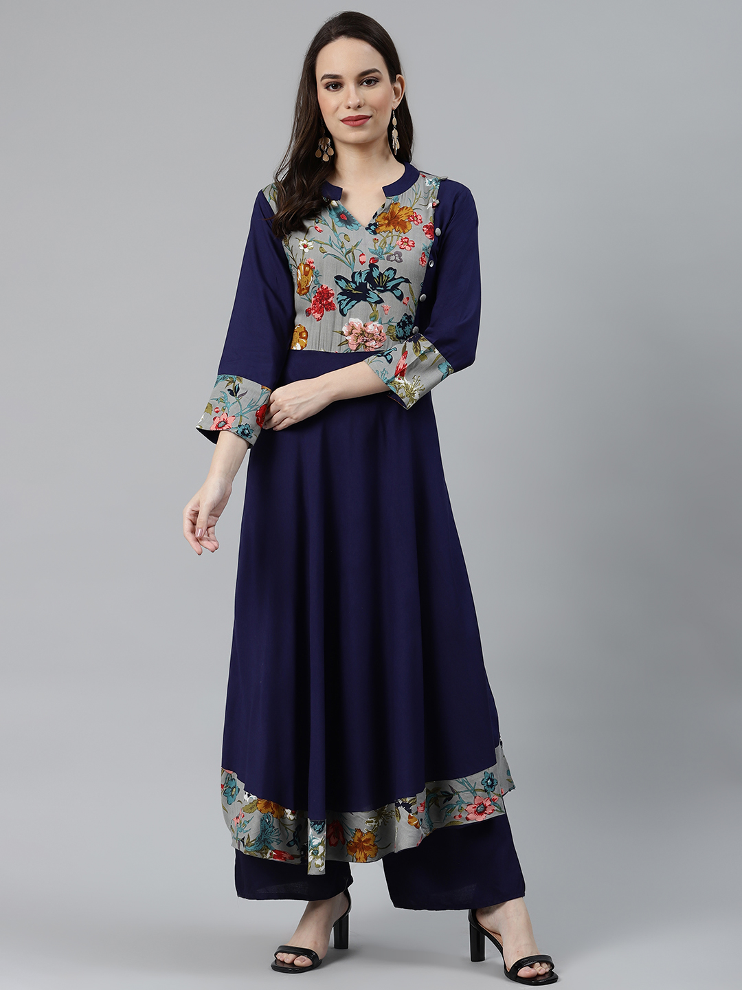 Jompers | Jompers Rayon flaired printed kurta