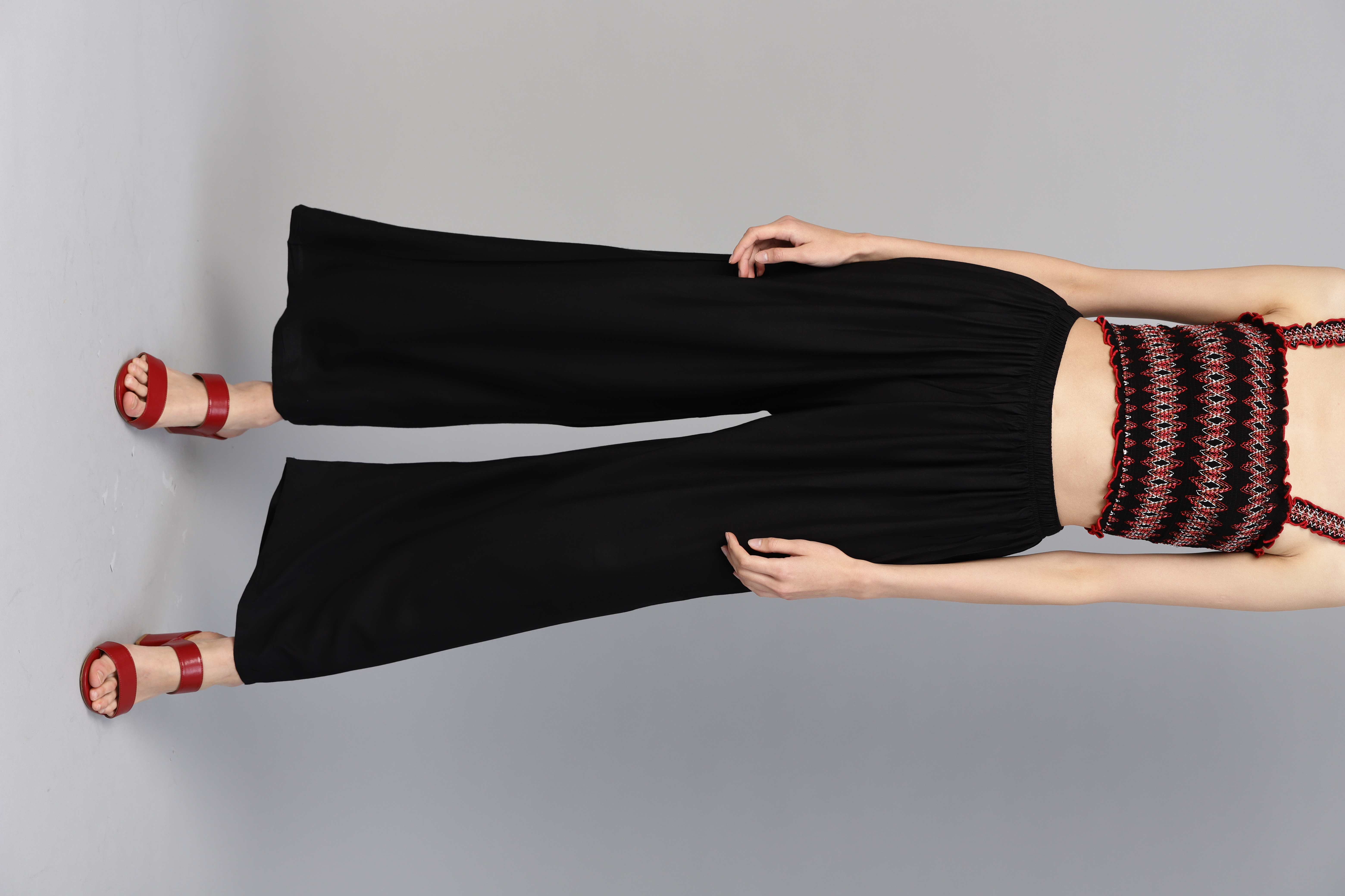 Jompers | Jompers Women Black Solid Straight Palazzos