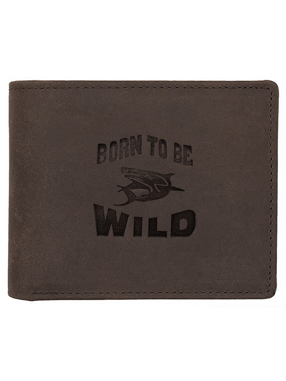 WildHorn | WildHorn RFID Protected Genuine High Quality Leather Dark Brown Wallet for Men