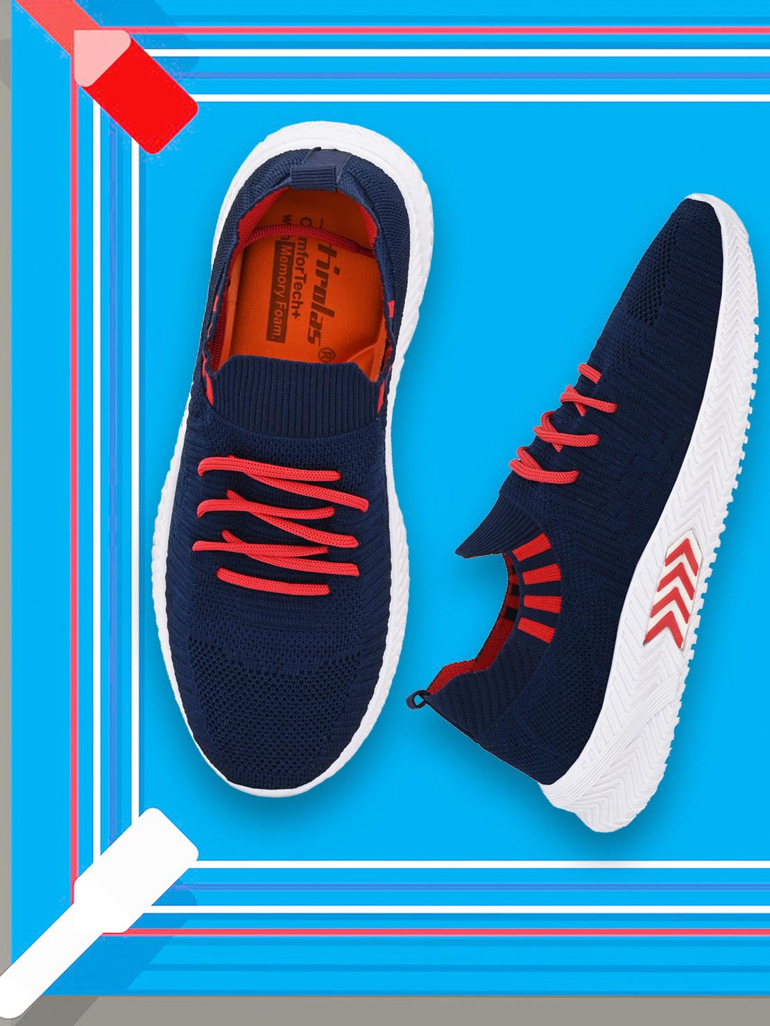 Hirolas   Hirolas® Men's Blue Knitted Running/Gym/Walking athleisure Sports Shoes