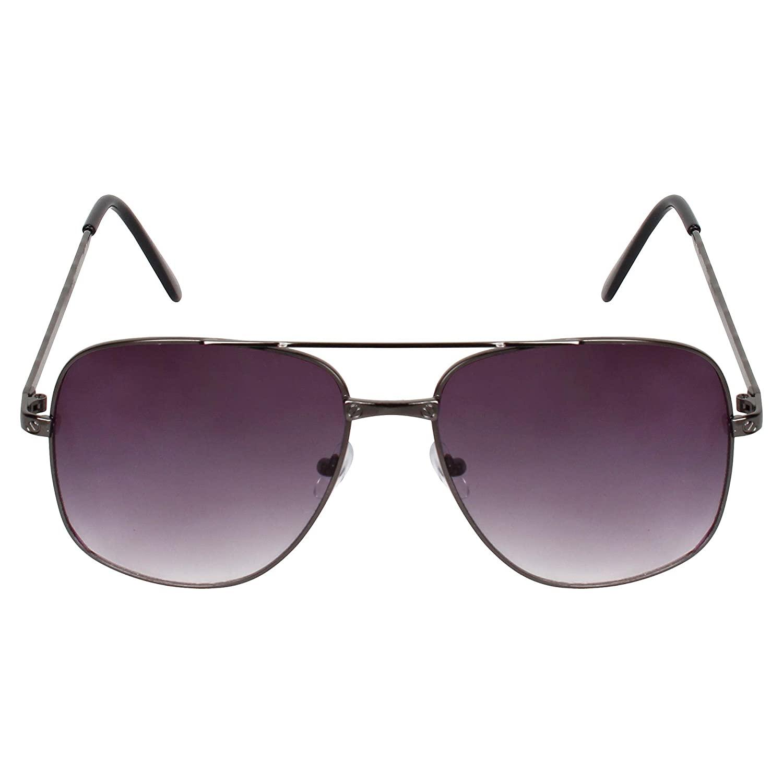 CREATURE   CREATURE Aviator UV Protected Unisex Sunglasses (Lens-Black Frame-Black)