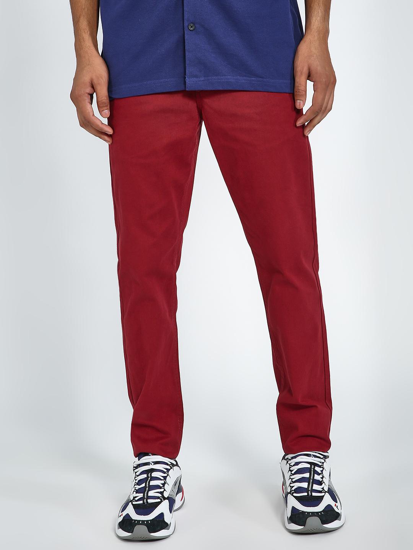 Blue Saint | Blue Saint Men's Red Skinny  Trousers
