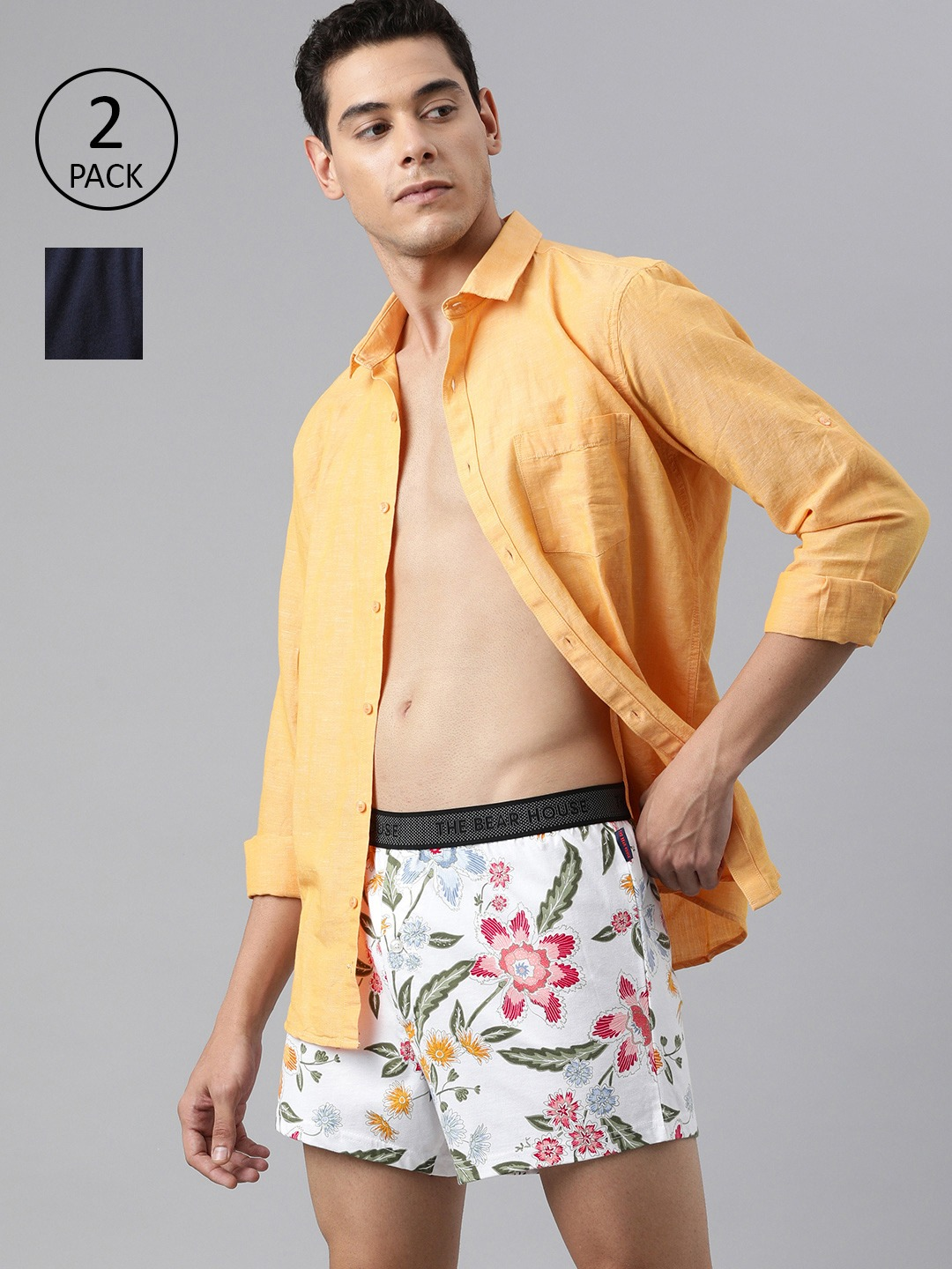 The Bear House   Men's Printed Knitted Boxers