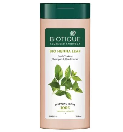 Biotique Advanced Ayurveda | BIOTIQUE Bio Henna Leaf Fresh Texture Shampoo & Conditioner