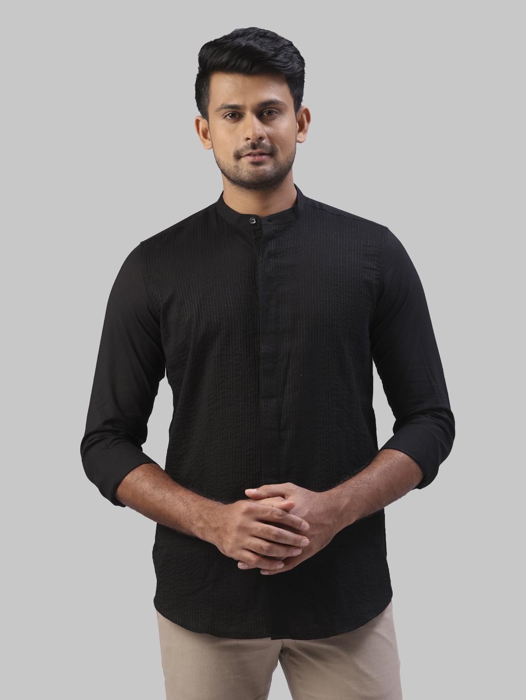 Khadi the story re-spun | Khadi the story re-spun Black Shirt