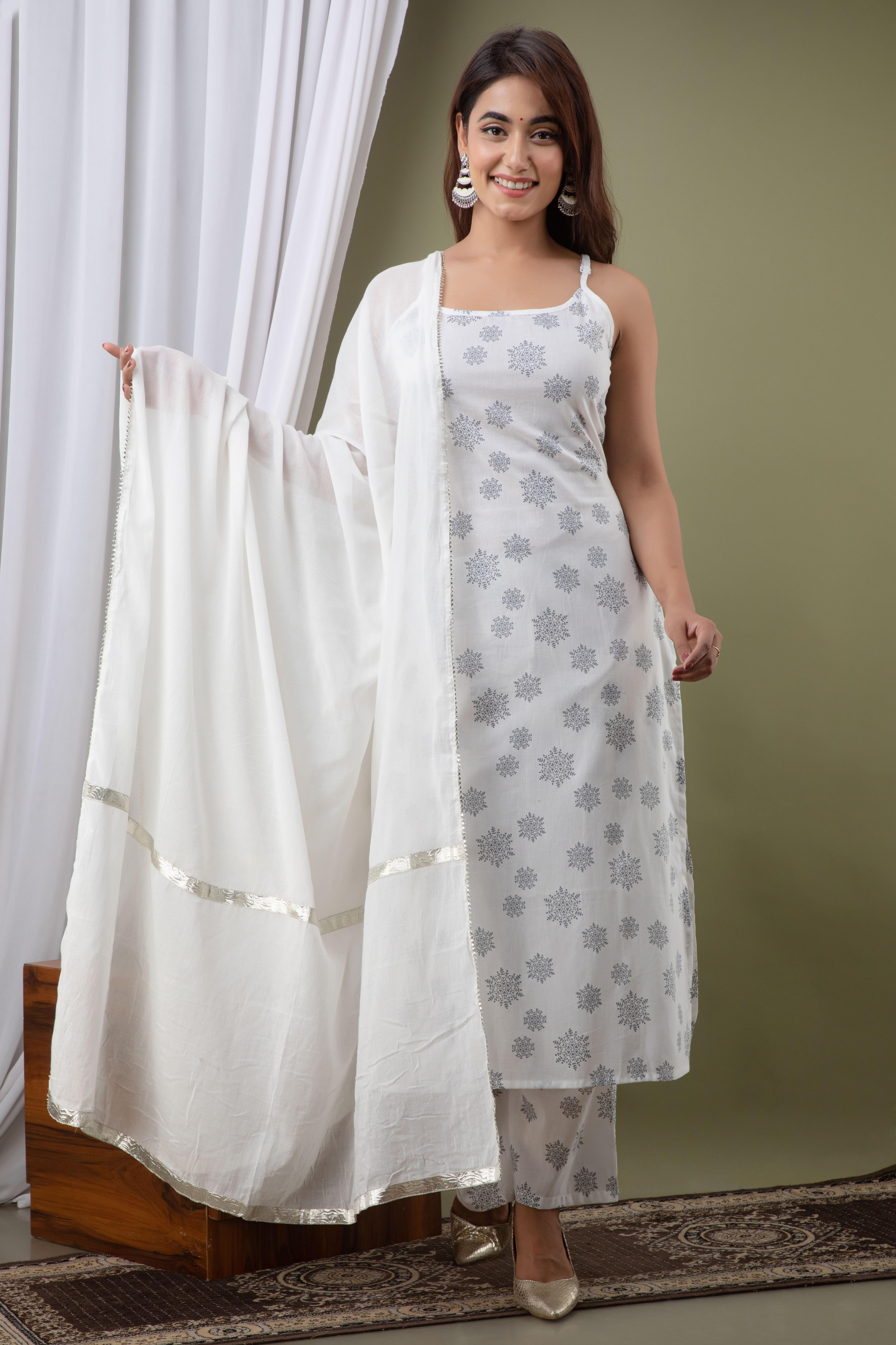 KHWAB | KHWAB Rayon Printed Women's Kurta/Palazzo/ Dupatta Set