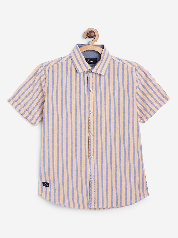 OCTAVE   Boy'S MUSTARD Shirts