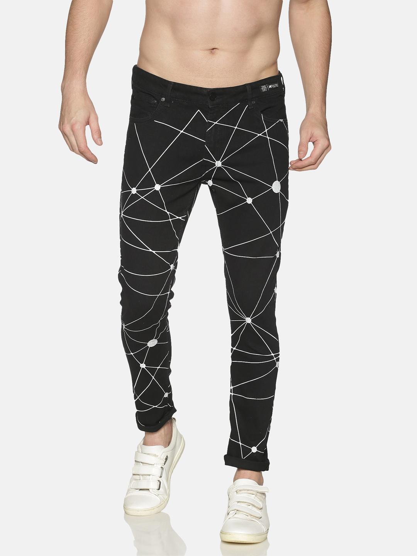 KULTPRIT | Kultprit Men's Skinny Jeans With Allover Print