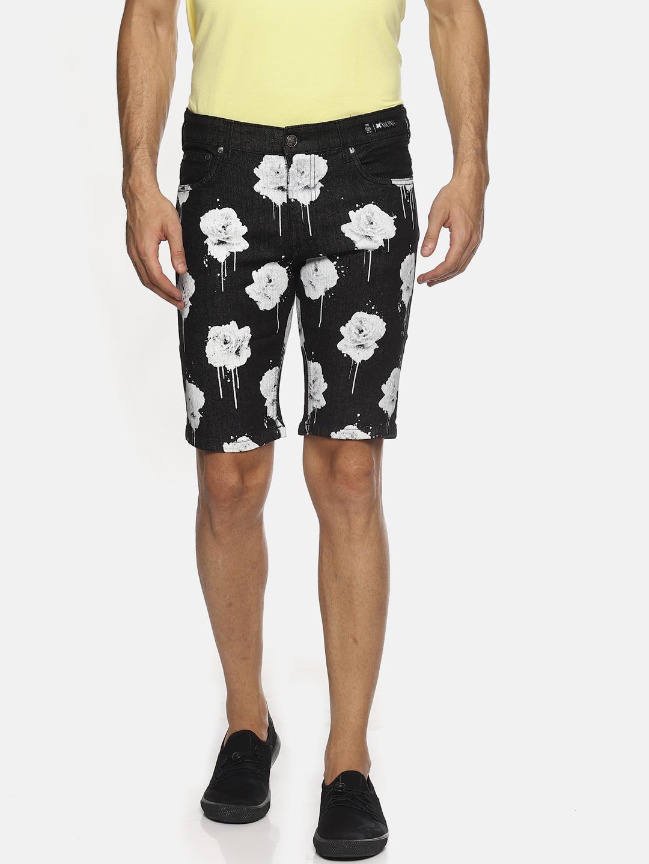 KULTPRIT | Details Denim Shorts With All Over Print