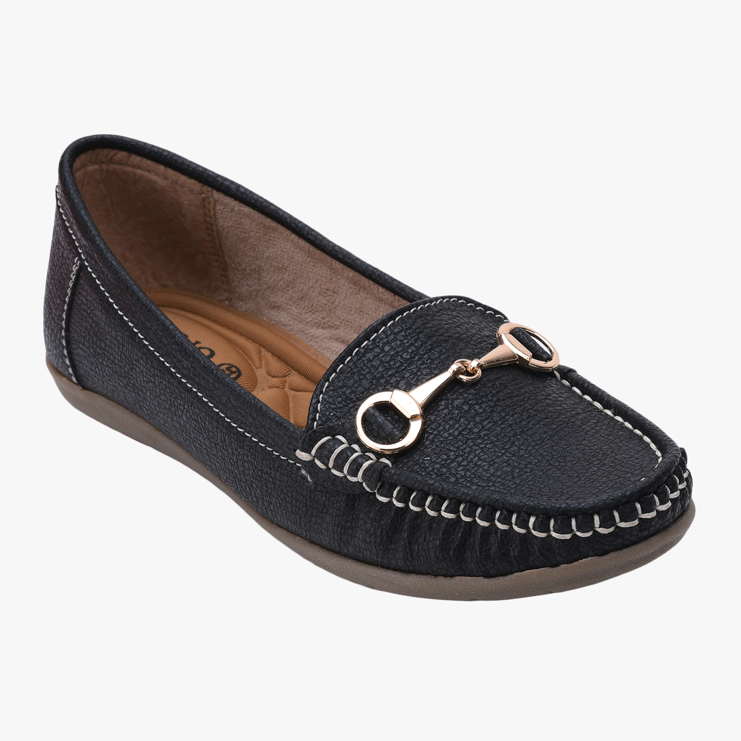 SALARIO | Salario Panelled Loafers with Contrast Stitch