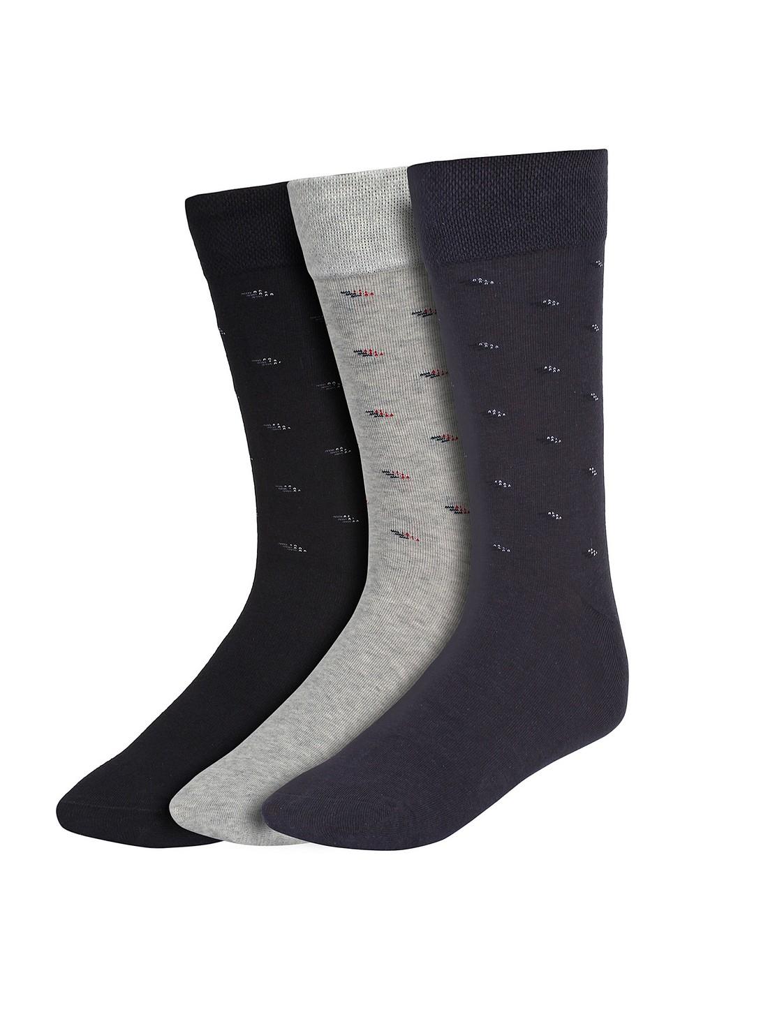 CREATURE | CREATURE Men's Cotton Calf Length Formal Socks Combo of 3