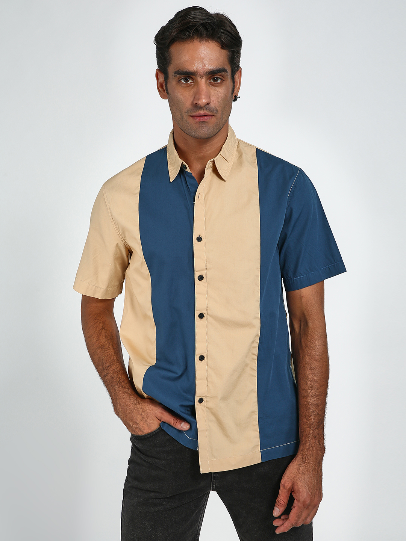 Blue Saint | Blue Saint Men's Blue Slim Fit Shirts