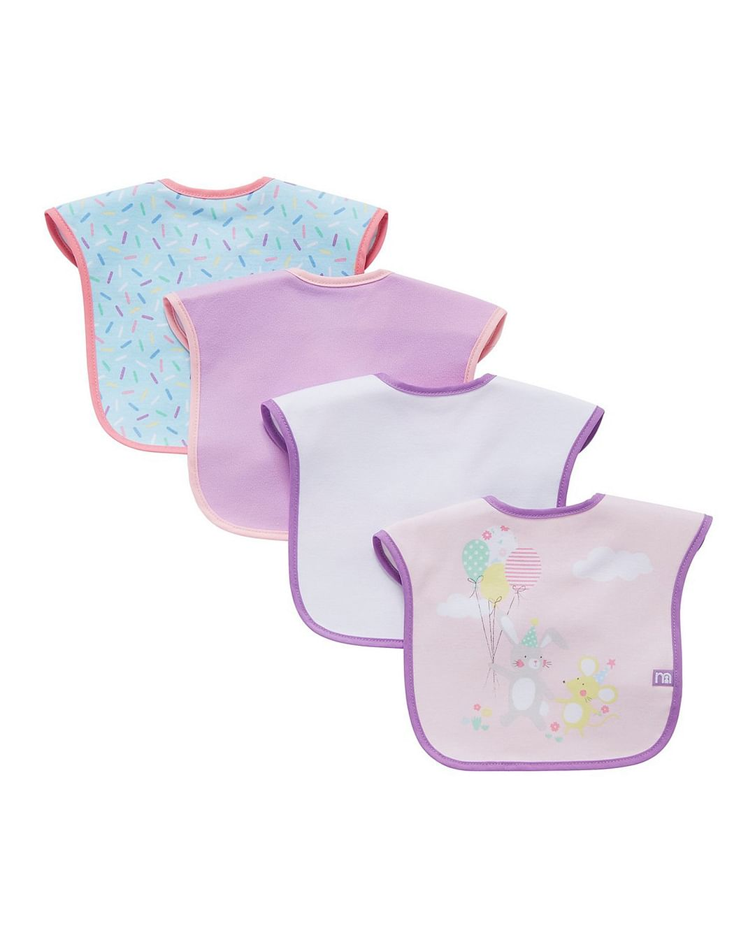 Mothercare   Confetti Party Bibs - Pack of 4