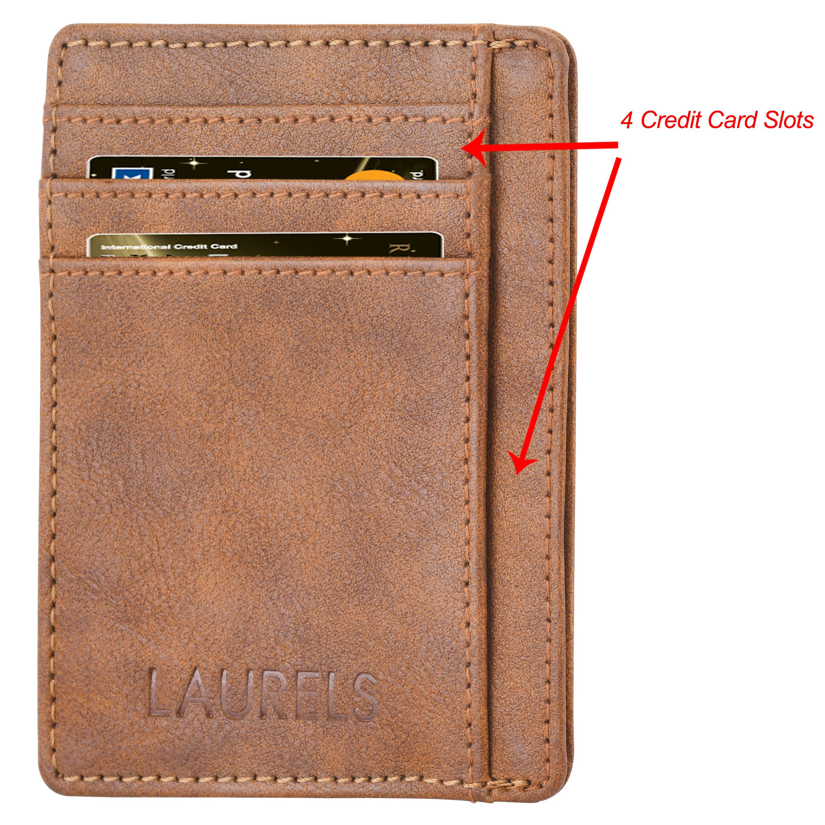 Laurels | Laurels Aristocrat Beige Vegan Leather Card Holder.