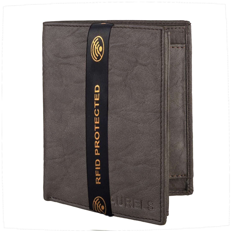 Laurels | Laurels Max Green Vegan Leather Book Style Men Wallet With RFID Protection.