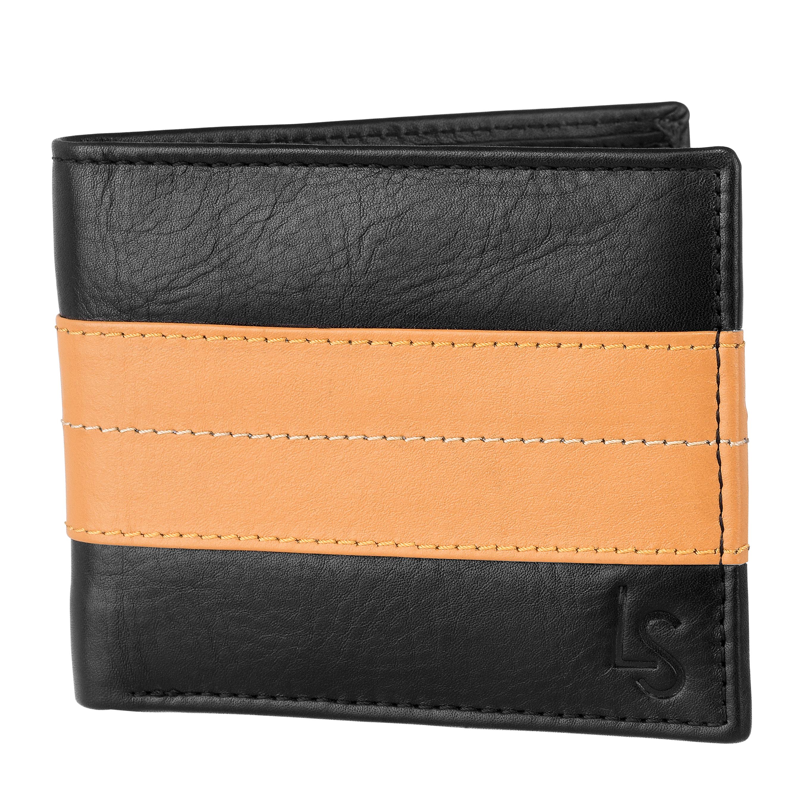 Laurels | Laurels M Series Tan Genuine Leather Men Wallet.