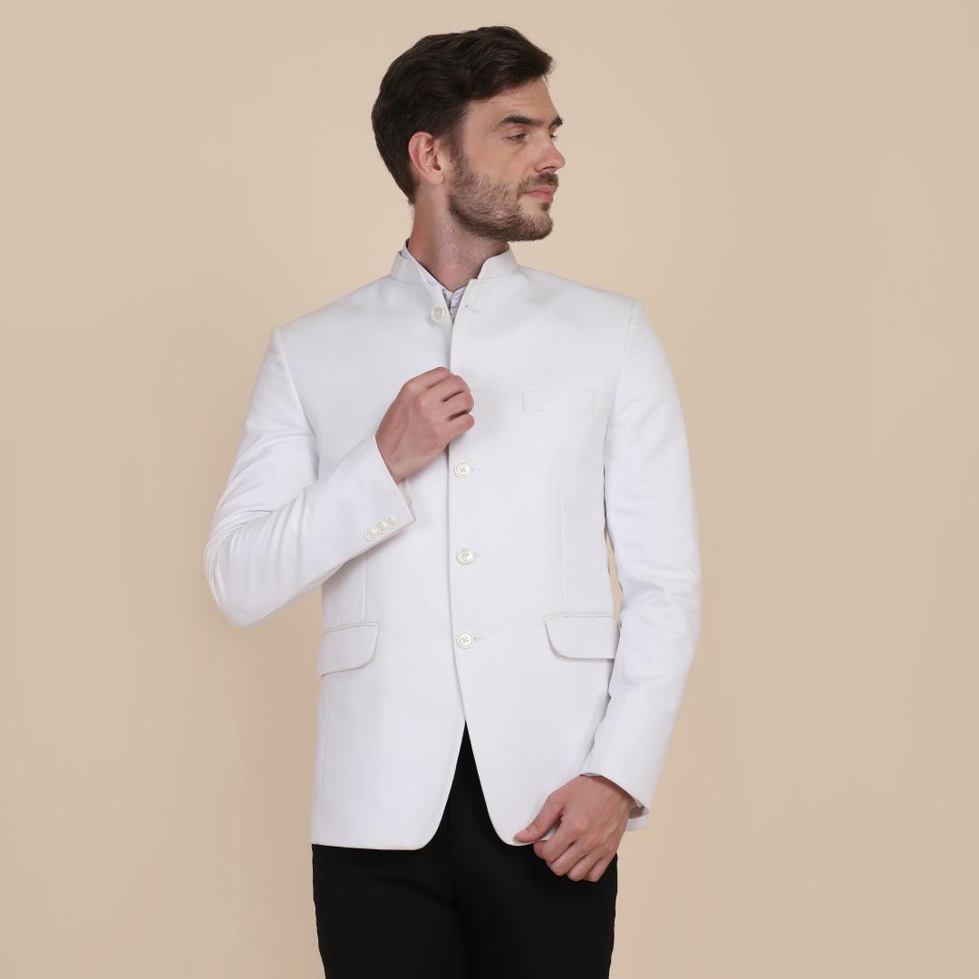 TAHVO | TAHVO men White bandgala blazers