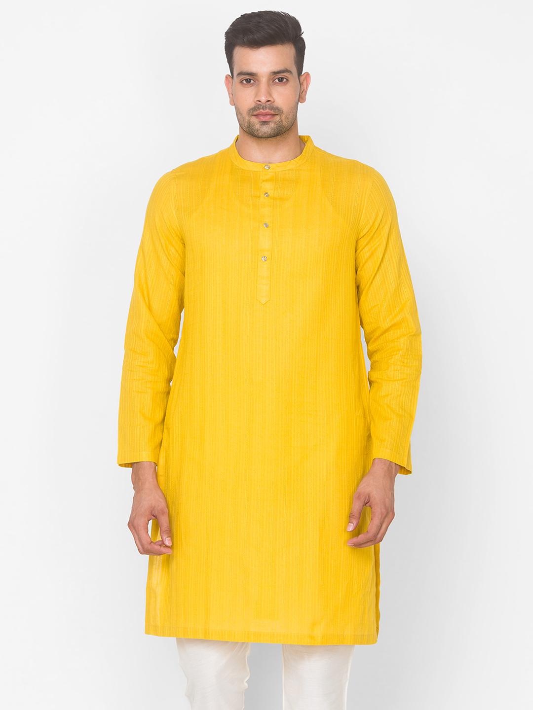 Ethnicity   Ethnicity Cotton Straight Full Sleeve Men Kurta