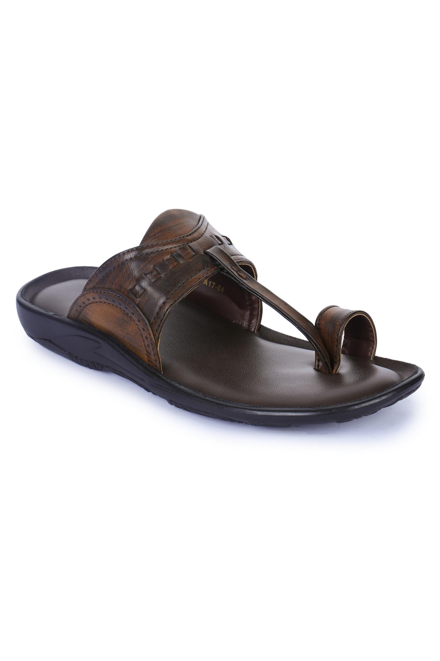 Liberty | Liberty Coolers Brown Flip Flops A17-04_Brown_1 For - Men
