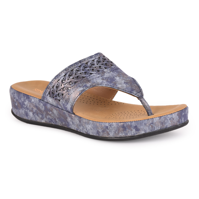 Liberty | Liberty Senorita Blue Comfort Slippers GF-75_Blue For - Women