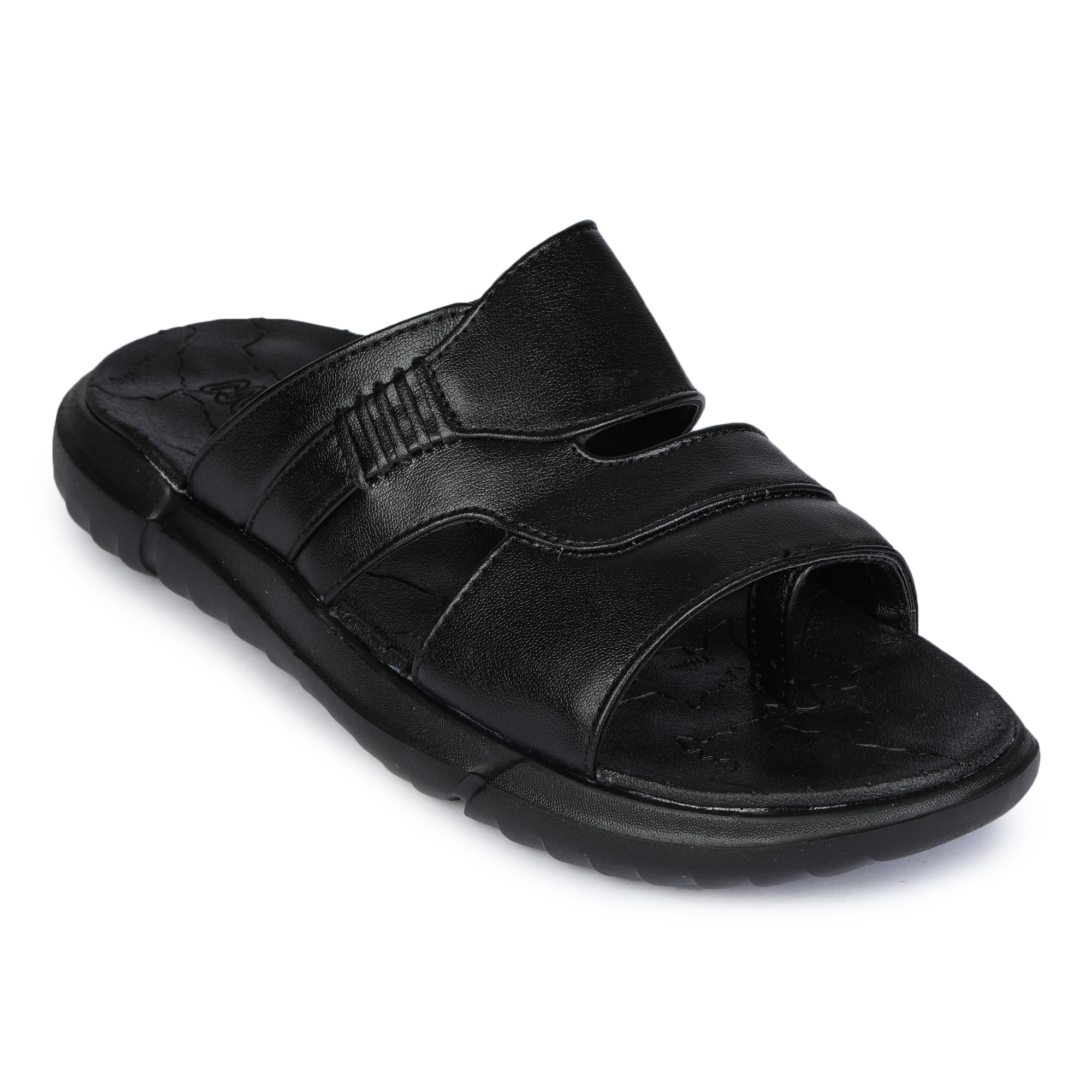 Liberty | Liberty Coolers Black Casual Slippers GLOBY-1ME_Black For - Men