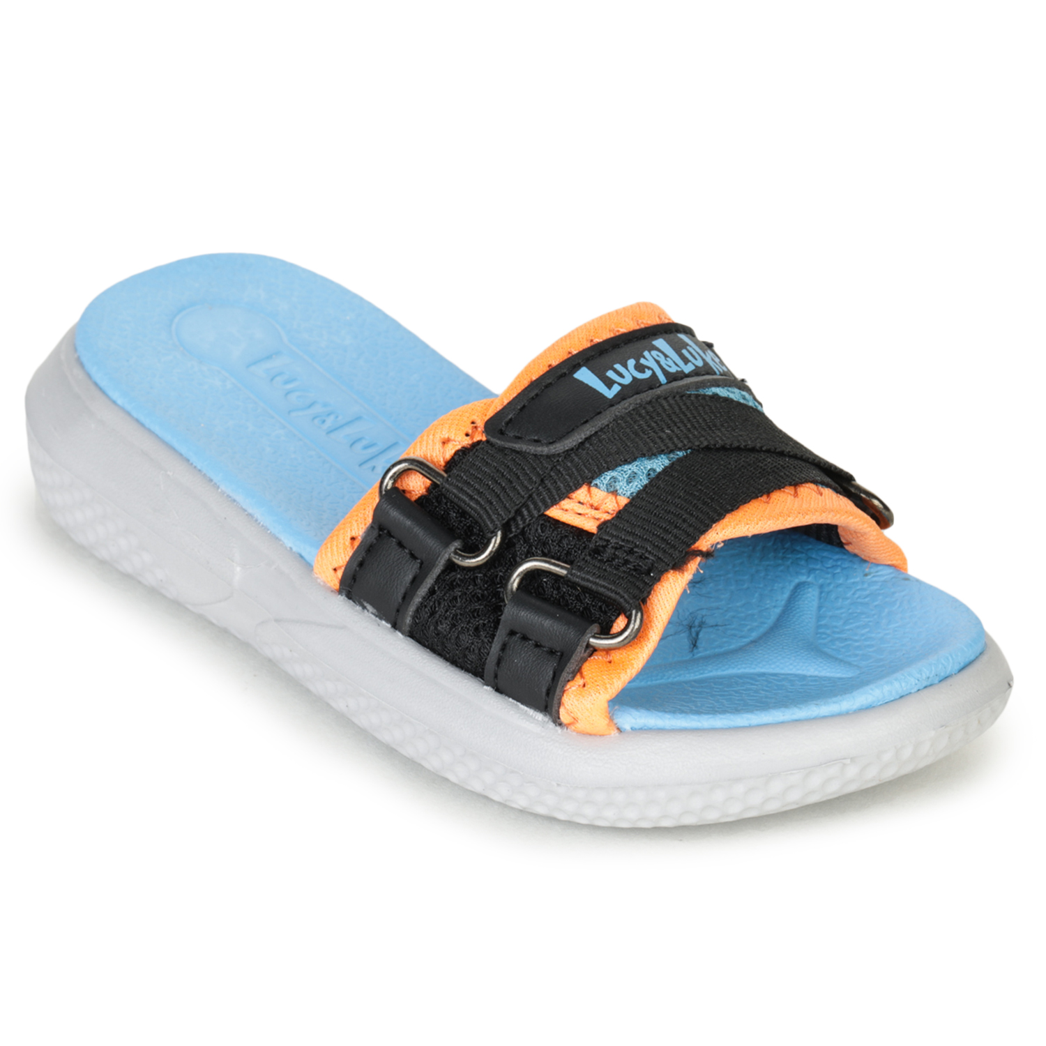 Liberty | Liberty Lucy & Luke Blue Casual Slippers HIPPO-12S_Blue For - Boys