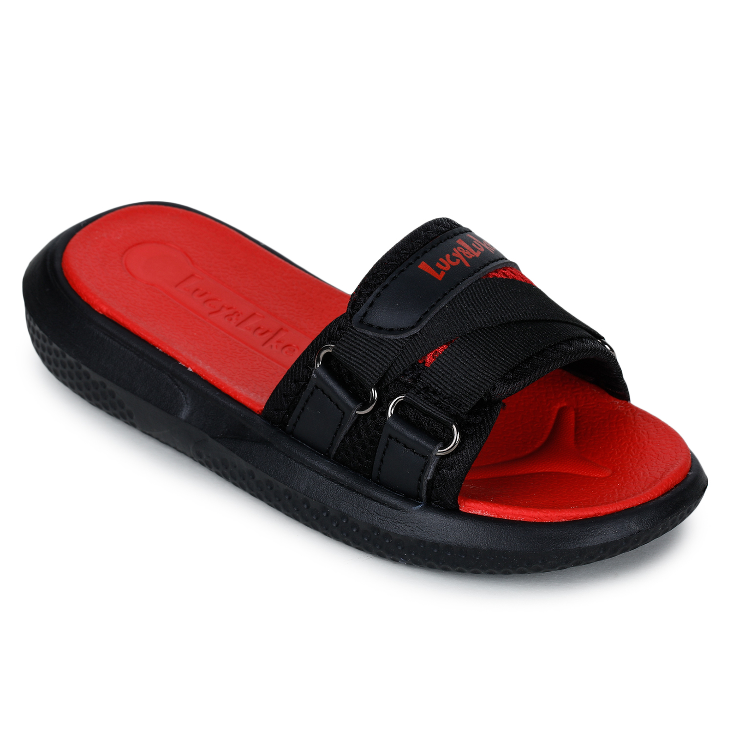 Liberty | Liberty Lucy & Luke Red Casual Slippers HIPPO-12S_Red For - Boys