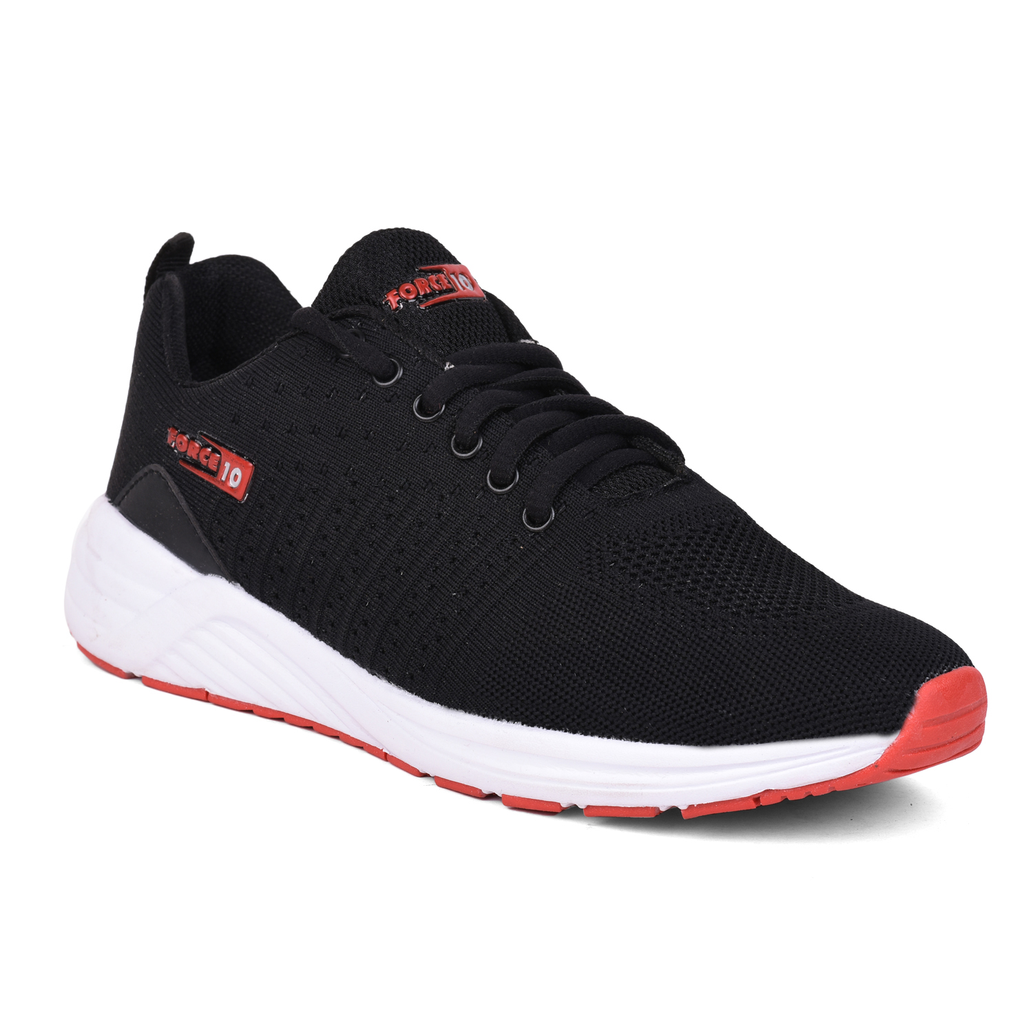 Liberty | Liberty Force 10 Black Sports Running Shoes OLIVER_Black For - Men