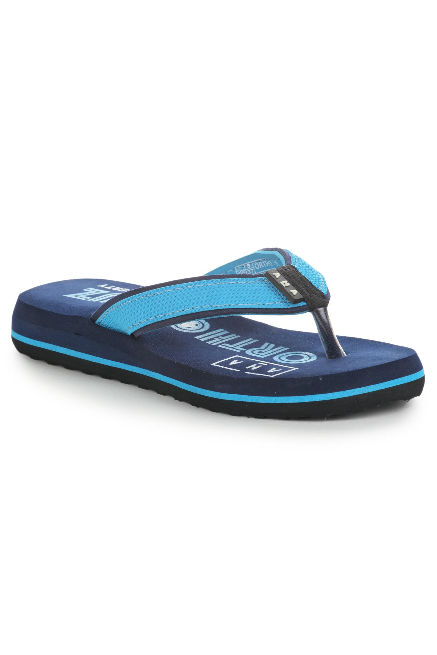 Liberty | Liberty A-HA Blue Flip Flops ORTHO-3_Blue For - Women